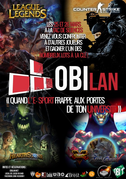 OBILan #3 - Tournois Street Fighter 5 et Soul Calibur 5 - BREST - 25 et 26 mars 2016